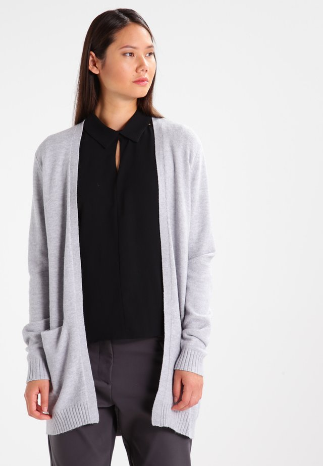 VIRIL - Cardigan - light grey melange