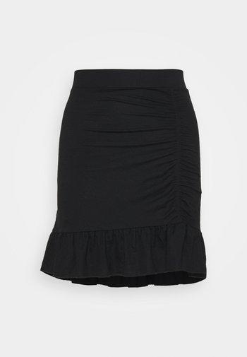 ANNIE SKIRT - Mini skirt - black