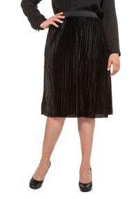 Ulla Popken - A-line skirt - black - 0