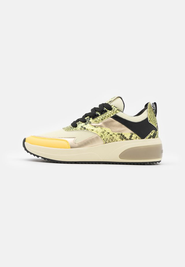 AMUDENA - Sneakersy niskie - light yellow