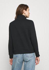 Even&Odd - HIGH NECK HALF ZIP SWEATSHIRT - Sweatshirt - black - 2