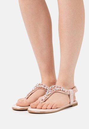 VEGAN RELLA - T-bar sandals - beige/rosegold