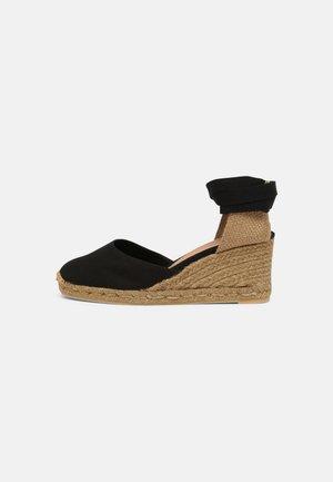 CARINA - Wedge sandals - black