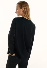 Massimo Dutti - Long sleeved top - black - 2