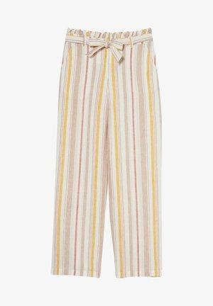 Trousers - beige / brown