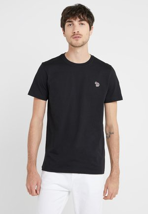SLIM FIT ZEBRA - T-shirt basic - black