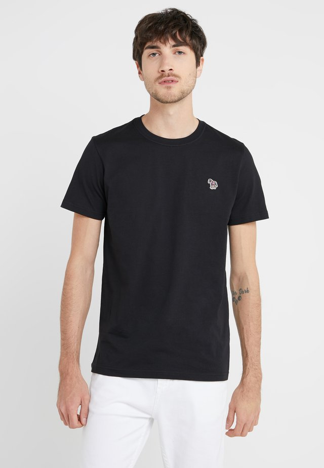 SLIM FIT ZEBRA - Basic T-shirt - black