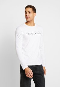 Marc O'Polo - LONGSLEEVE ROUND NECK - Long sleeved top - white - 0
