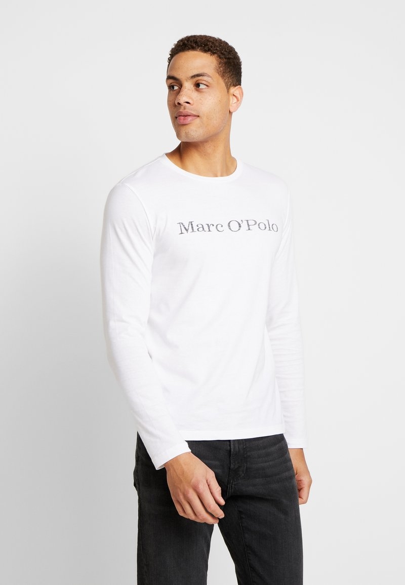 Marc O'Polo - LONGSLEEVE ROUND NECK - Long sleeved top - white
