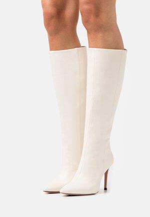 SILLA - Stivali con i tacchi - milk