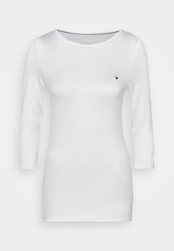 BOAT NECK TEE 3/4 - Long sleeved top - white