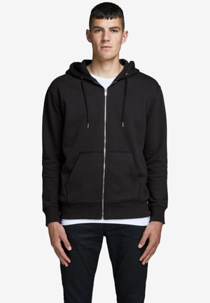 JJESOFT ZIP HOOD - veste en sweat zippée - black