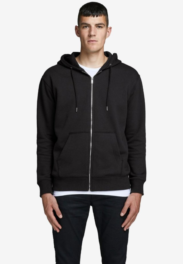 JJESOFT ZIP HOOD - Collegetakki - black