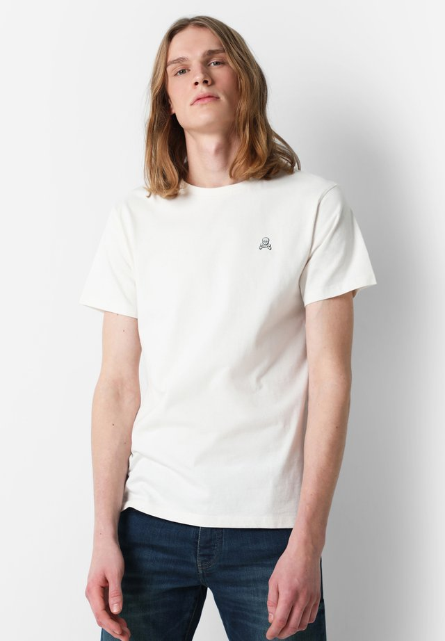 WITH ROUND ON THE BACK - Print T-shirt - off white