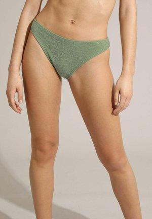 MIT PAILLETTEN - Bikini bottoms - grün