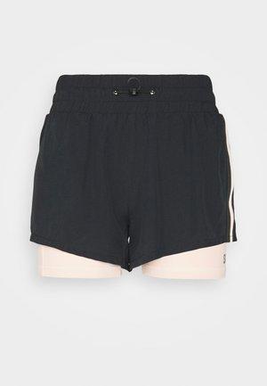2 IN 1 SHORTS  - Sports shorts - black/pink