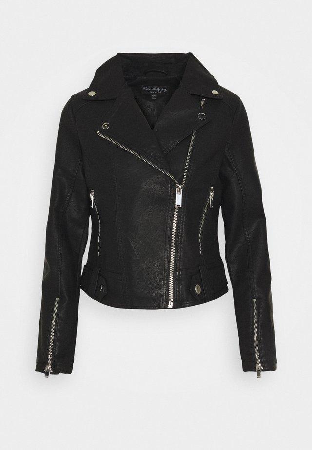 TABBY BIKER - Faux leather jacket - black