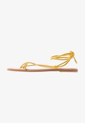 OITA - T-bar sandals - yellow