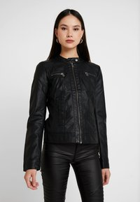 ONLY - BANDIT BIKER - Veste en similicuir - black - 0