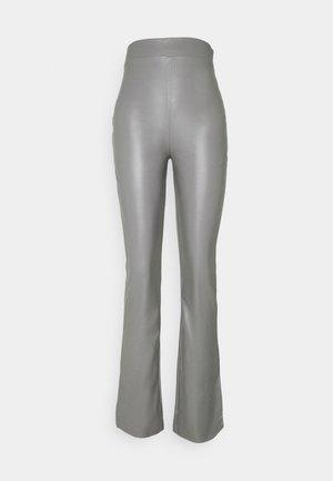 SIDE CUT PANTS - Trousers - gray