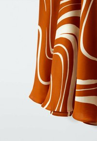 Massimo Dutti - MIT PRINT  - A-line skirt - orange - 2