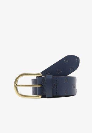 SKULL  - Belt - navy