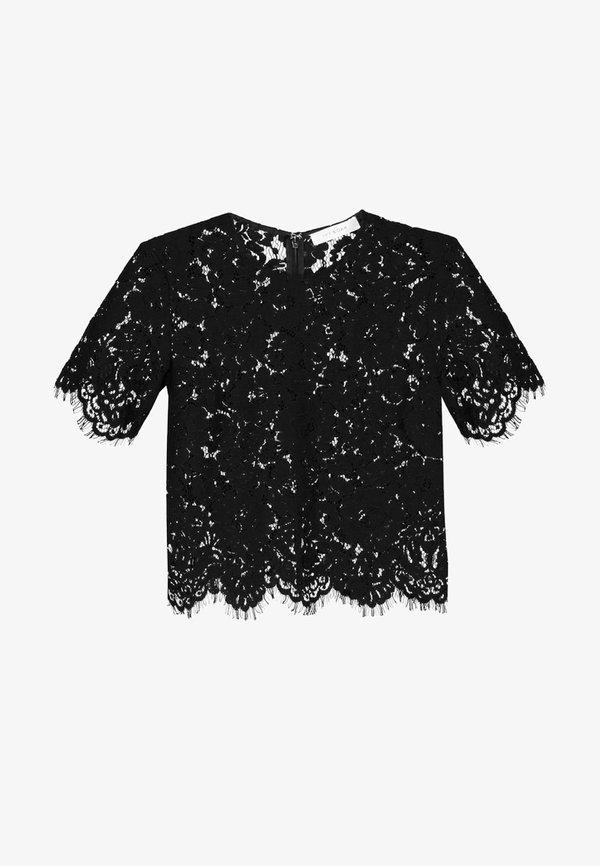 IVY & OAK BOXY - Bluzka - black/czarny RMWR