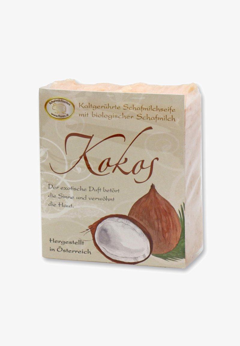 Florex - KALTGERÜHRTE KOKOS SEIFE MIT BIO SCHAFMILCH 150 G - Soap bar - beige