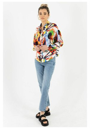 COMIC KURT - Button-down blouse - mehrfarbig
