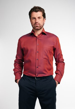 COMFORT FIT - Formal shirt - herbstrot/royalblau