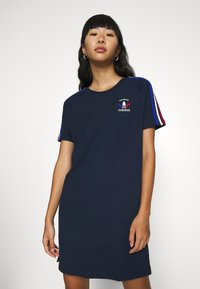adidas Originals - STRIPES SPORTS INSPIRED REGULAR DRESS - Jersey dress - collegiate navy - 0