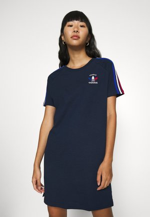 STRIPES SPORTS INSPIRED REGULAR DRESS - Vestito di maglina - collegiate navy