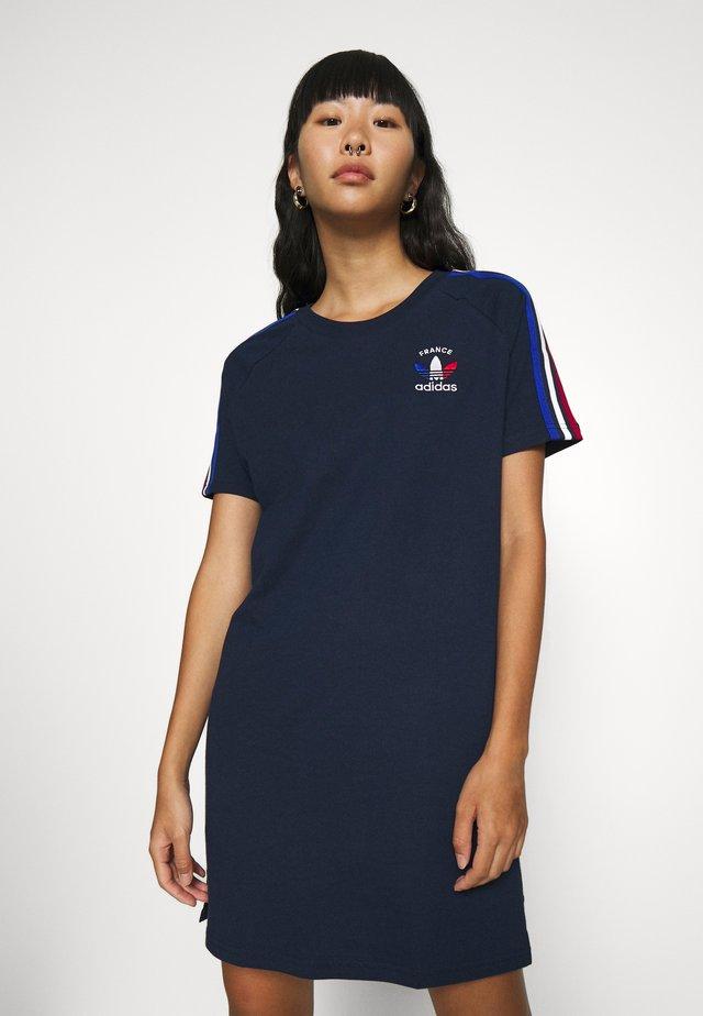 STRIPES SPORTS INSPIRED REGULAR DRESS - Sukienka z dżerseju - collegiate navy