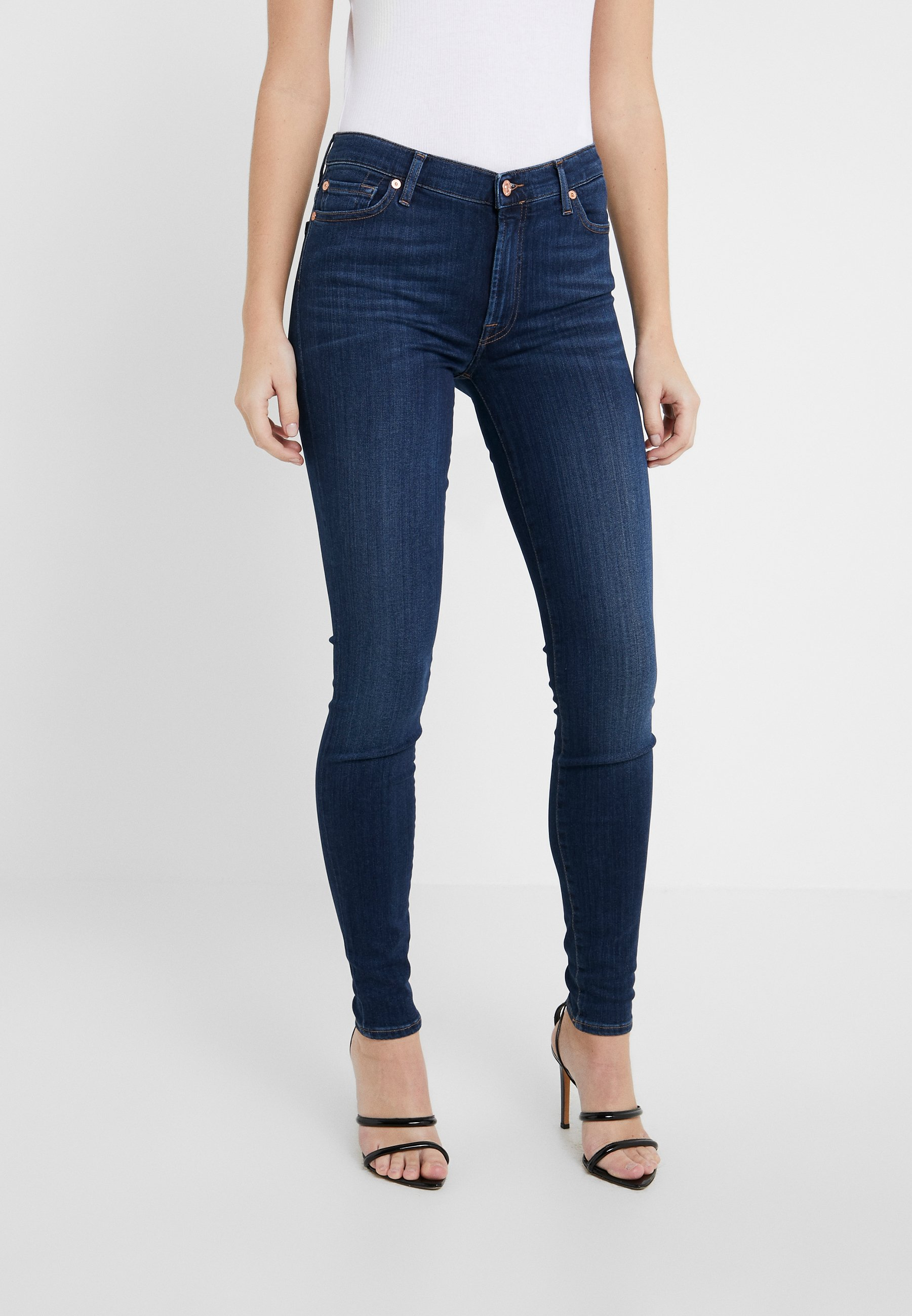 Clearance Women's Clothing 7 for all mankind ILLUSION LUXE LOVESTORY Jeans Skinny Fit mid blue OjrWQMdLU