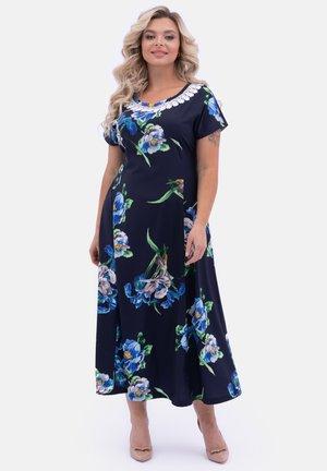 MIT BLUMEN - Maxi dress - blau