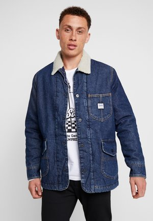 LONG LOCO SHERPA - Denim jacket - dark worn
