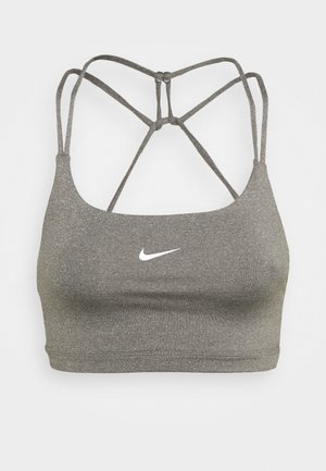 INDY BRA NON PAD - Light support sports bra - carbon heather