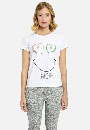 T-shirt print - white print