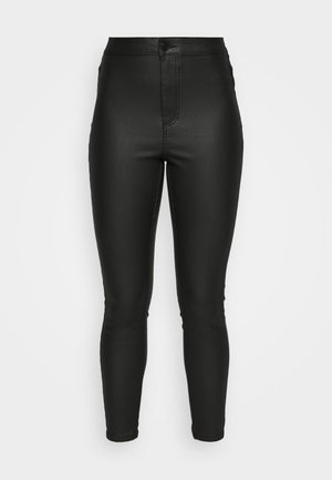 VMJOY SKINNY COATED PANTS - Bukser - black