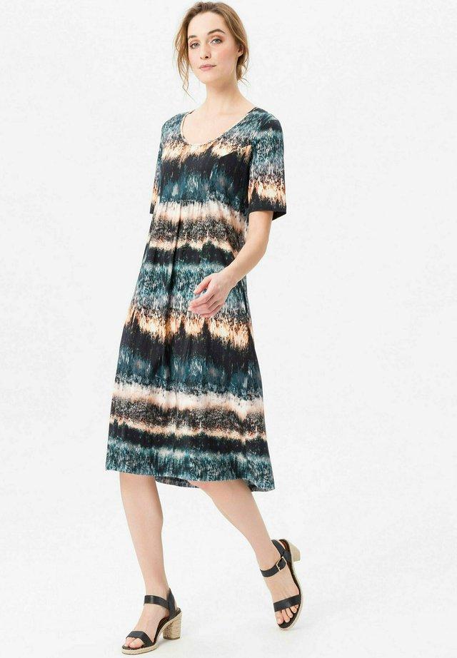 Korte jurk - blau natur multicolor