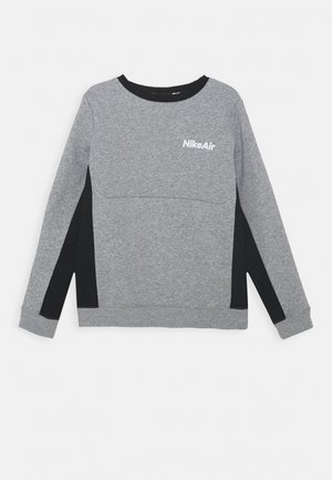 AIR CREW - Mikina - dark grey heather/black