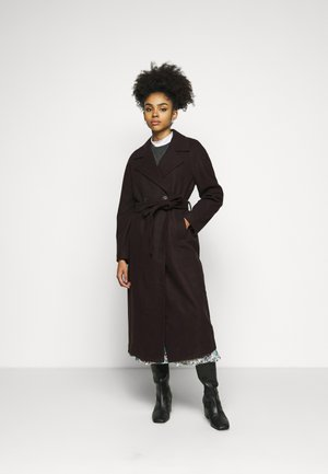 VMMERLEMAY LONG PETITE - Classic coat - chocolate plum