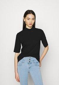 Vila - T-shirt basic - black - 0