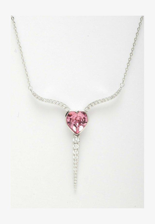 AVANT-GARDE PARIS CRYSTALLIZED WITH SWAROVSKI HEART ARC PENDANT - Necklace - pink