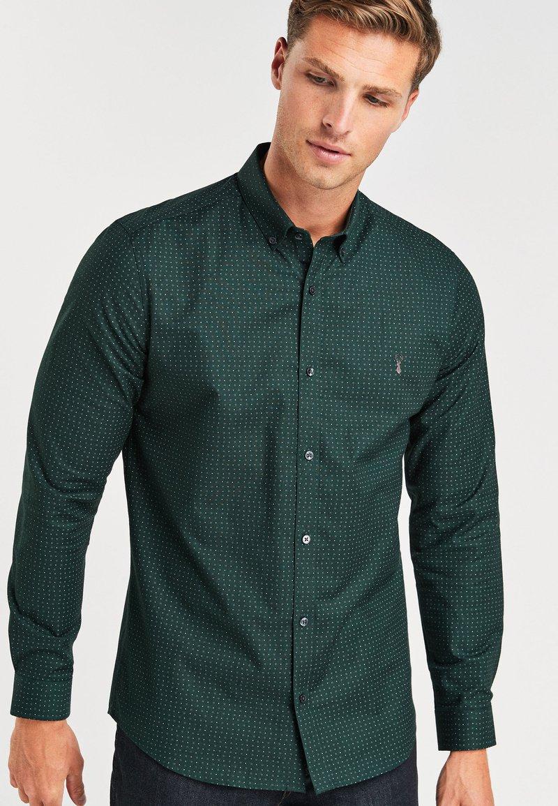 Next - STRETCH OXFORD - Shirt - green