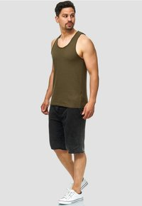 INDICODE JEANS - Denim shorts - Black - 1