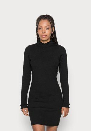 ASHLEE FRIL DRESS - Jumper dress - black