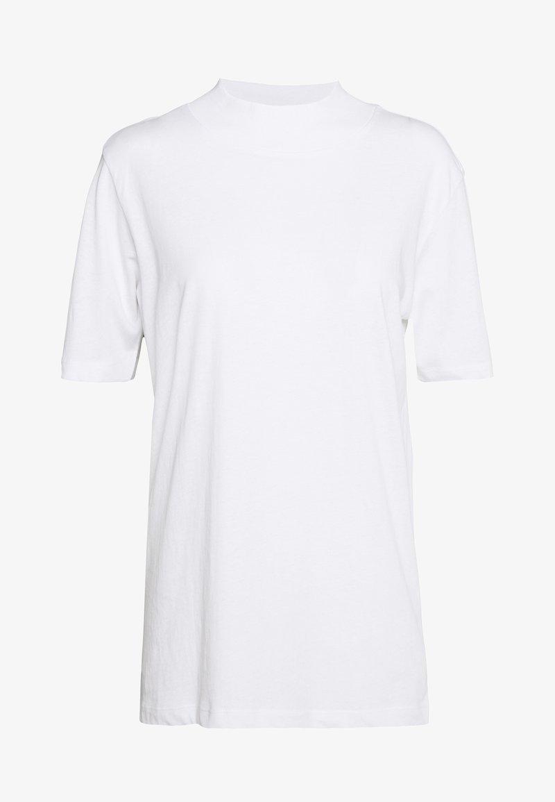 Even&Odd Tall - WITH WIDE COLLAR - Jednoduché triko - white
