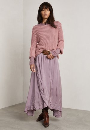 RICHARDS - A-line skirt - pale wine