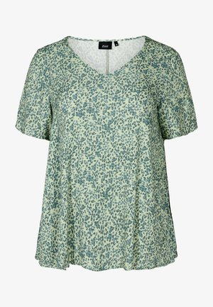 MIT A-LINIE - Blouse - light green leaf